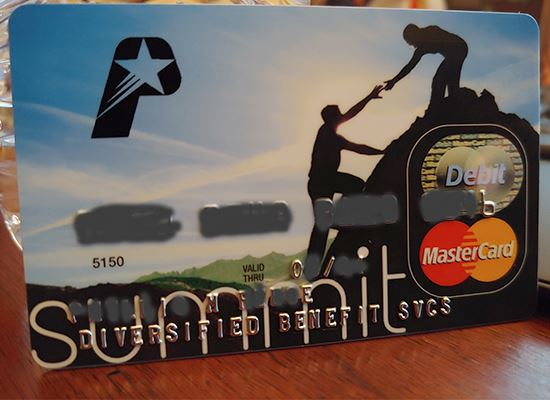 Diversified Benefit Services debit card