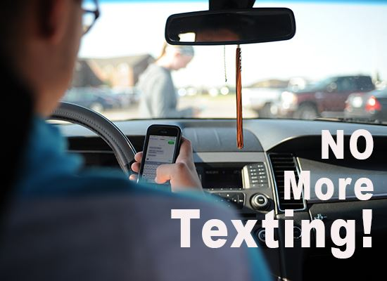 Text while driving illegal 2