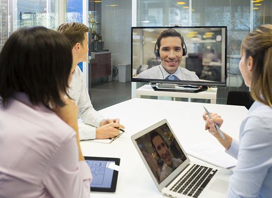 Skype conference meeting