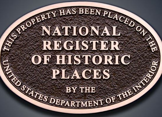 Natl Register of Historc places plaque