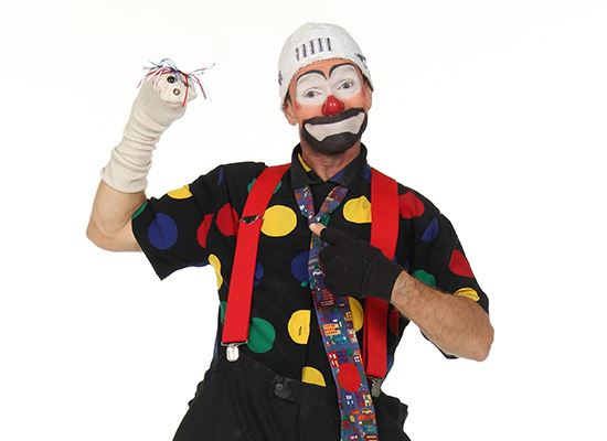 Patches, a Life And Fire Safety clown for Plano Fire-Rescue