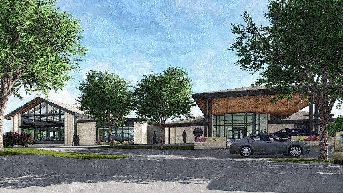 Rendering of future expanded Plano Senior Recreation Center