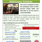 2018 Smith System Defensive Driving Course Schedule