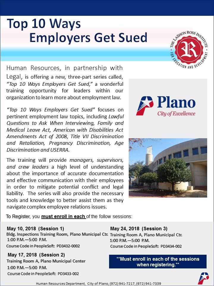 Top 10 Ways Employers Get Sued