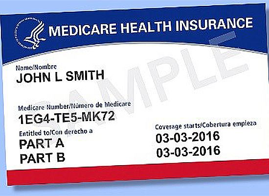Medicare Cards No SS numbers