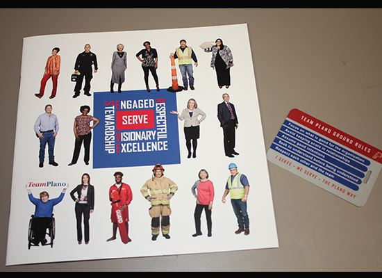 SERVE Culture Book and ID tag