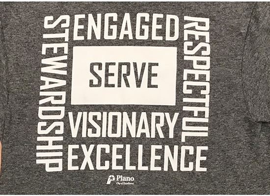 SERVE t-shirt back