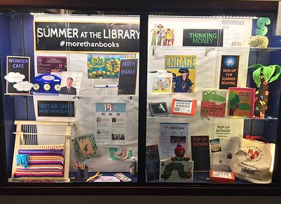 Display Case Library Summer Reading