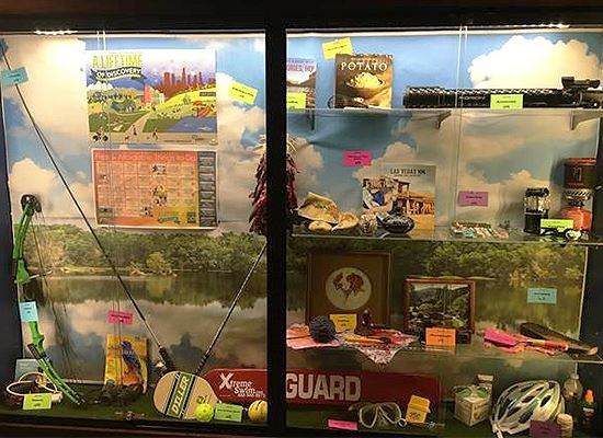 Display Case Natl Parks and Rec Month