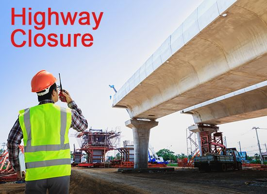 highway closure roadwork