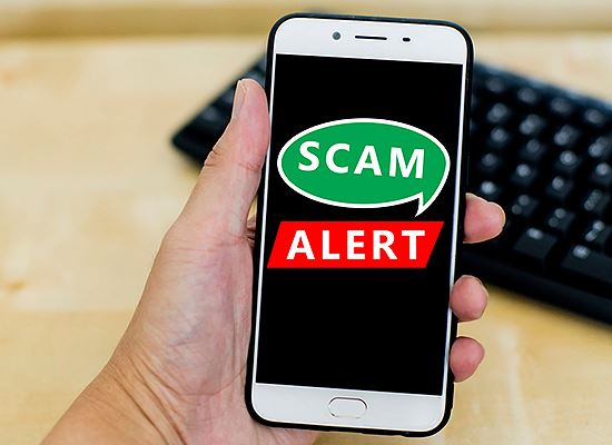 SCAM alert phone and web