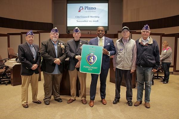 Purple Heart at CC meeting