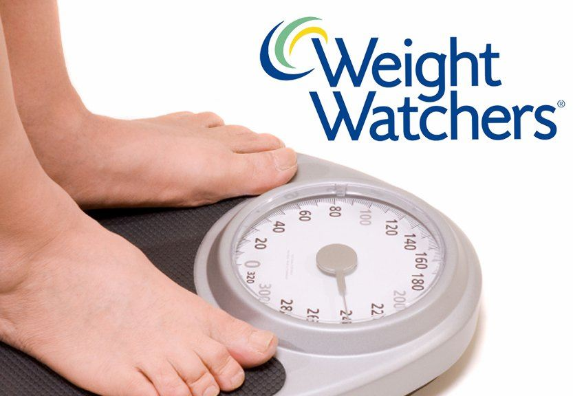 Weight Watchers scale and logo