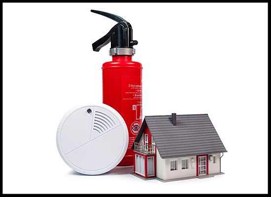 Smoke detector fire extinguisher