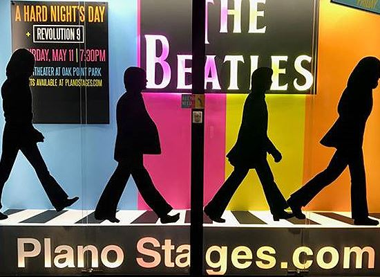 Display Case Plano Stages Beatles WEB