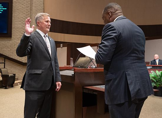 Mark Being Sworn in