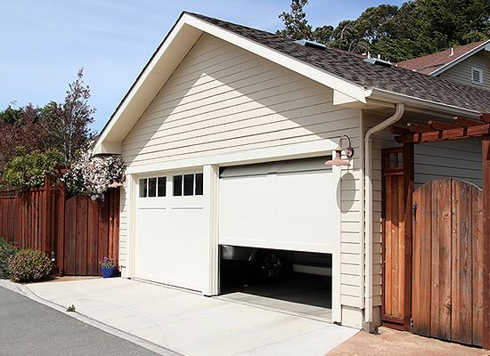 Garage door open