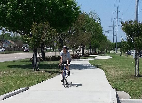 Bluebonnet Trail and biker