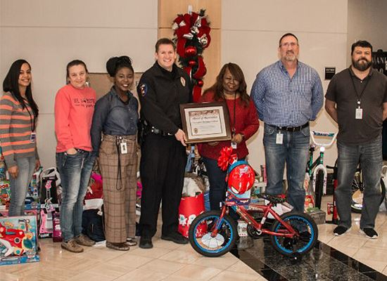 Christmas Cops group with toys