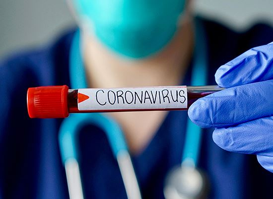 Coronavirus blood in tube