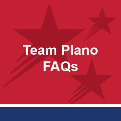 Button with text - Team Plano FAQs