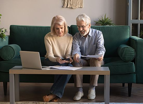 Seniors using online services