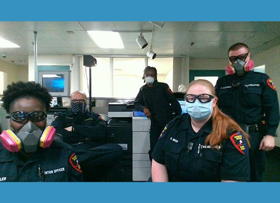 PPD staff wearing face masks at work WEB