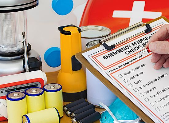 Emergency Preparedness checklist items