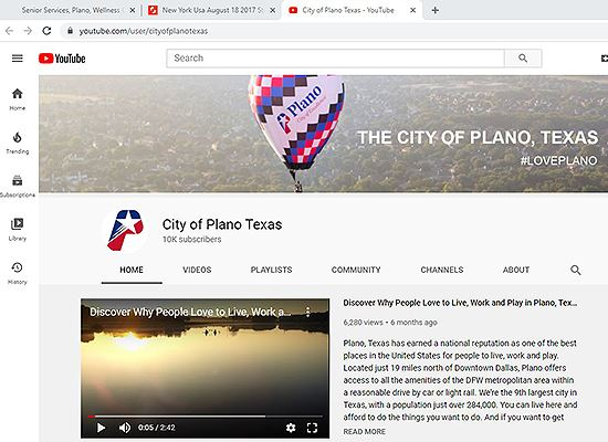 Plano YouTube homepage