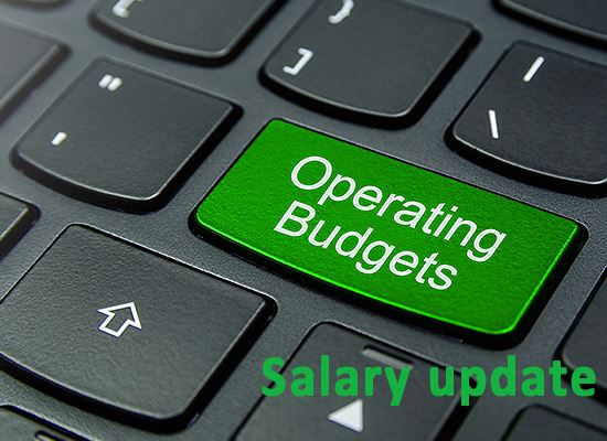 Operating Budget button on laptop