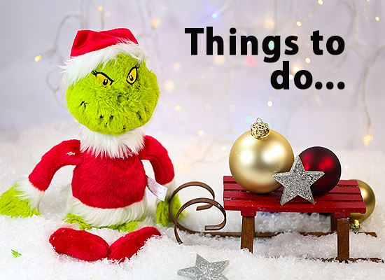 Grinch with sleigh Got things to Do