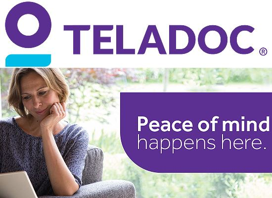 Teladoc mental health with logo