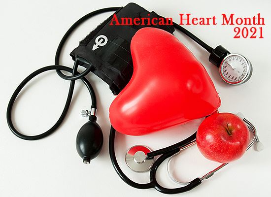 Amer Heart Month health items